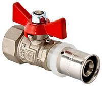 Кран шаровой под опрессовку для м/пл трубы 16х1/2 вн. Valtec VT.242.N.1604