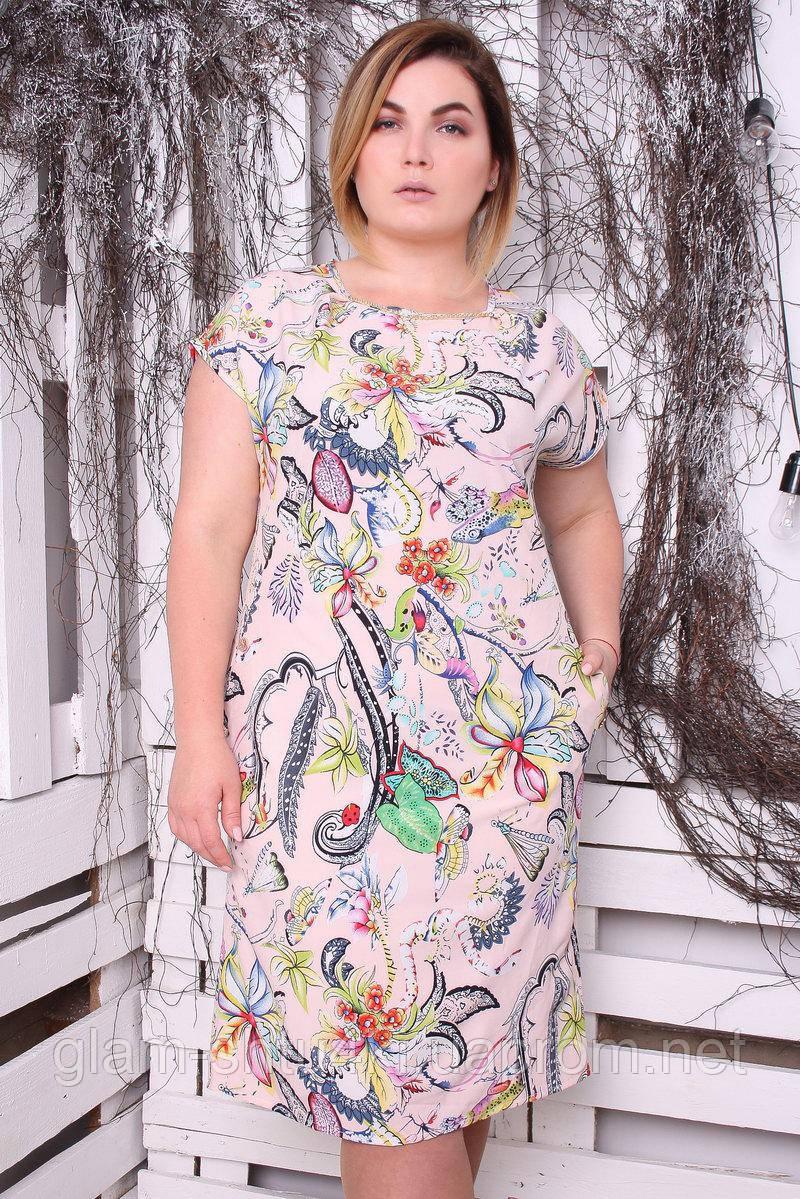 c8d9dd779e1a1 Женское летнее платье больших размеров Summer butterfly (50,52,54,56 ...