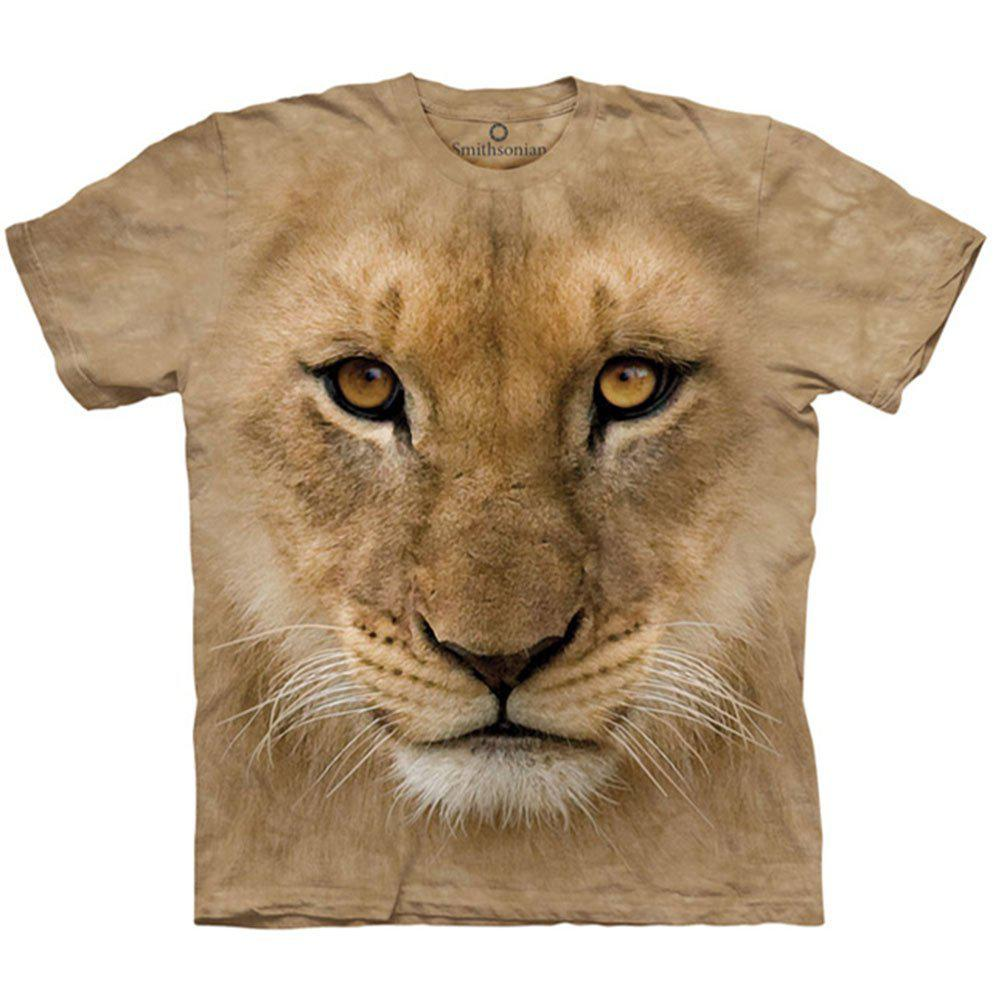 3D футболка для мальчика The Mountain р.XL 13-15 лет футболки детские с 3д принтом рисунком (Молодой Лев)