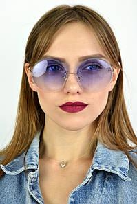 Cолнцезащитные женские очки градиент сиреневые