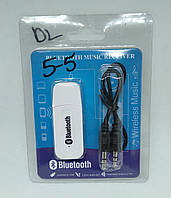 USB Bluetooth music receiver адаптер блютуз white