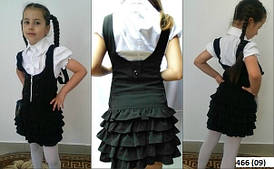 Сарафан школьный модный 466 (09)