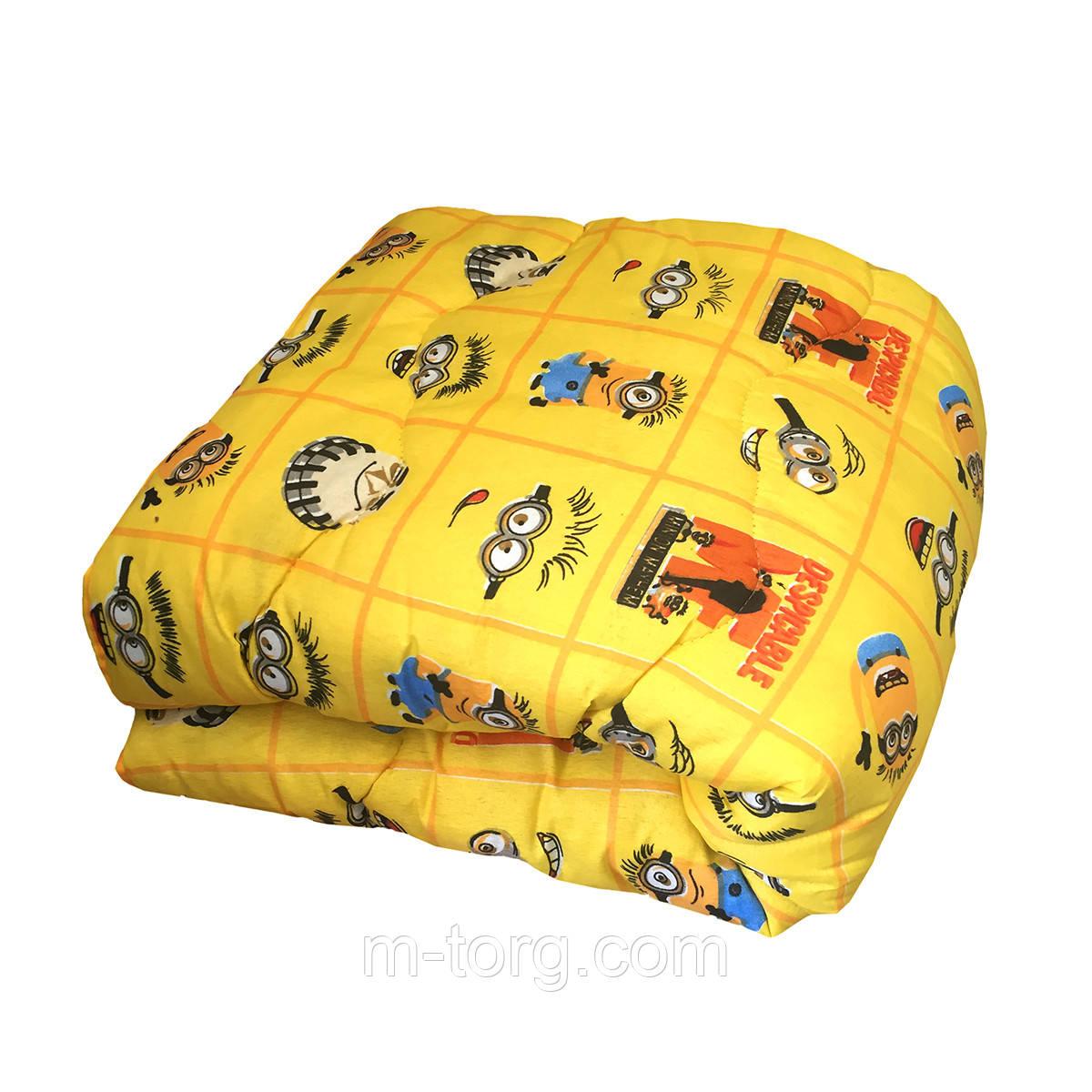 Одеяло детское холлофайбер 110/140 ткань поликоттон