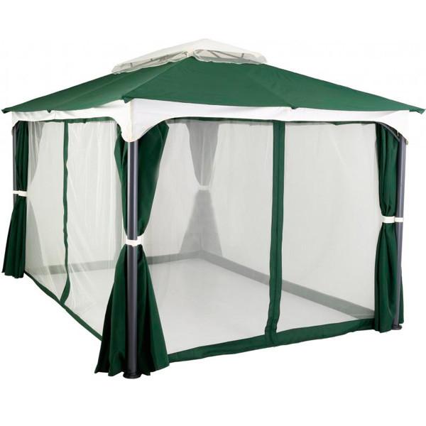 Павильон, шатер садовый 3х3 м с четырьмя водонепроницаемыми стенками и москитной сеткой
