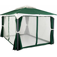 Павильон, шатер садовый 3х3 м с четырьмя водонепроницаемыми стенками и москитной сеткой, фото 1