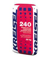 240 Клей для плит из минеральной ваты и устройства базового штукатурного слоя MINERALW Крайзель (Kreisel)25 кг