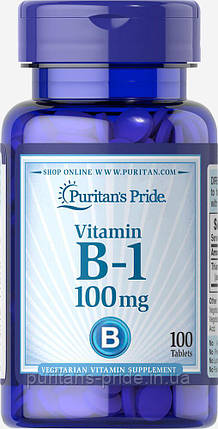 Тиамин, Витамин В-1, Puritan's Pride Vitamin B-1 100 mg 100 tablets , фото 2