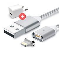 Магнитная зарядка, магнитный кабель, магнитный кабель на Apple iOS, Lightning USB, фото 1