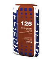 125 Кладочная смесь для блоков из ячеистого бетона PORENBETON-KLEBER 125 Крайзель (Kreisel) 25 кг