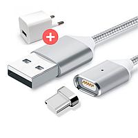 Магнитная зарядка, магнитный кабель, магнитный кабель на Android usb type-c, фото 1