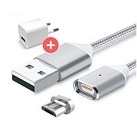Магнитная зарядка, магнитный кабель, магнитный кабель на Android micro usb, фото 1