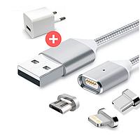 Магнитная зарядка, магнитный кабель, магнитный кабель на Android, iPhone, Micro USB, Lightning USB, USB Type C
