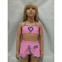 Купальник для девочек с юбкой на наши 28 30 32 34 36 размеры
