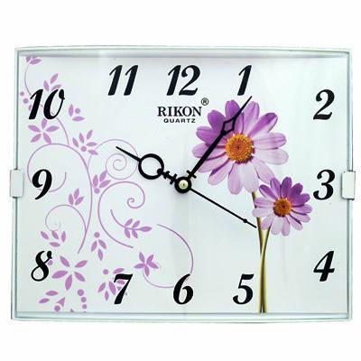 Часы настенные Rikon 14151 PIC Violet  Flower, фото 2