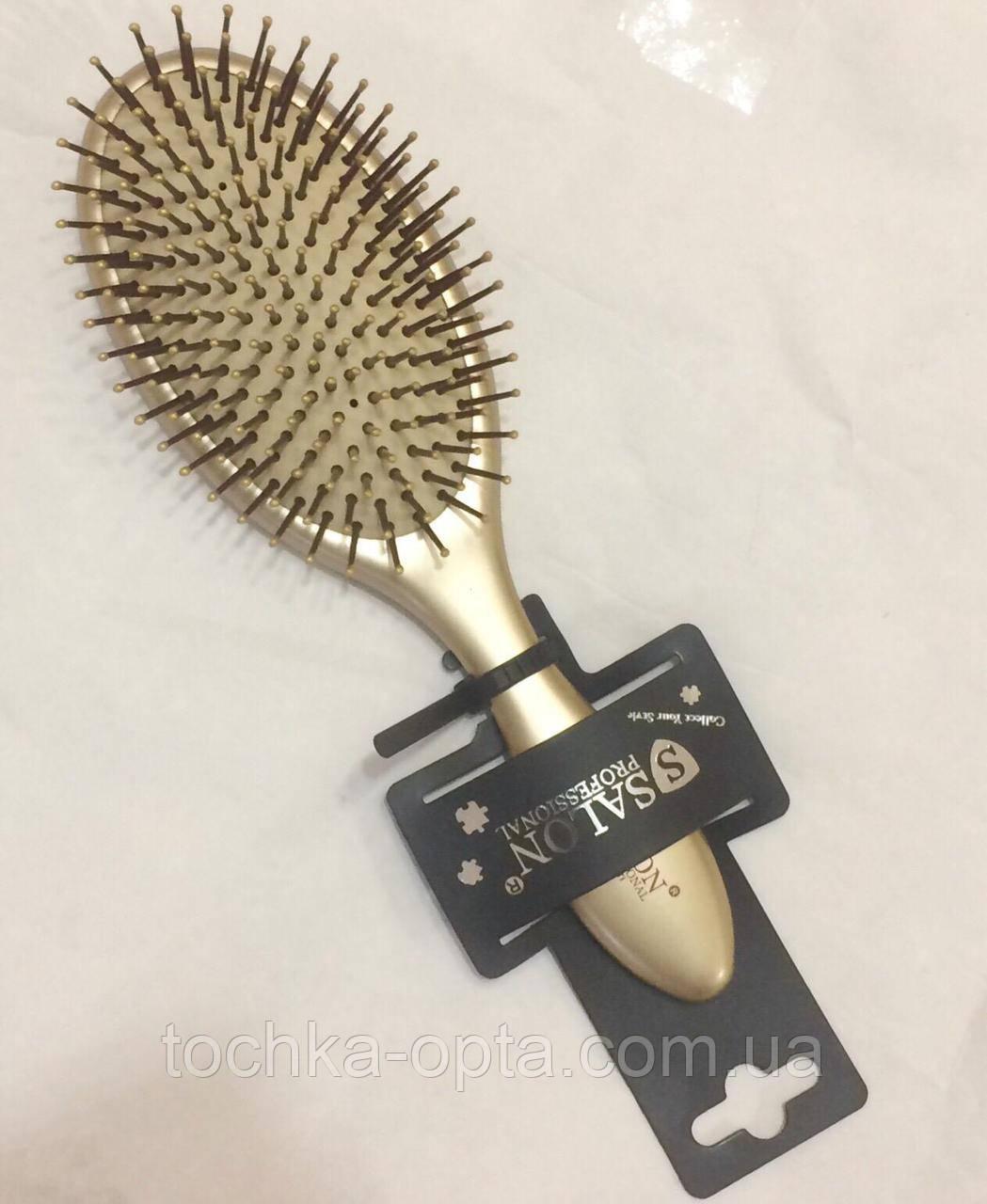 Массажная щётка для волос SALON PROFESSIONAL gold