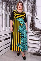 Женское трикотажное платье больших размеров Africa (62,64,66,68,70,72)