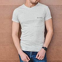 Мужская хлопковая футболка с кармашком, фото 2