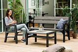 Тримісна лавка MONTERO TRIPLE SEAT BENCH графіт-свіло-сірий ( Keter ), фото 2