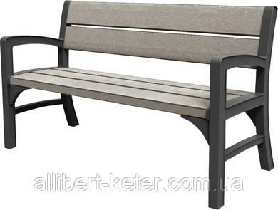 Тримісна лавка  MONTERO TRIPLE SEAT BENCH графіт-свіло-сірий, (Keter)
