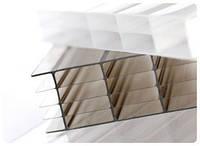 Поликарбонат сотовый толщина 10 мм, размер 6000х2100 мм