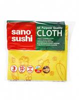 Крепкие качественные многоцелевые тряпочки(салфетки) Sano Sushi, 3 шт.