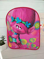 Текстильный рюкзак для девочки срисунком в виде Розочки из мультфильма Тролли, фото 1