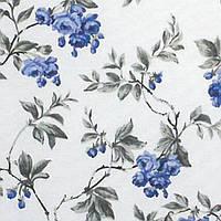 Ткань Цветы синие110733 v 17