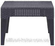 Зручна підставка для ніг з подушкою або невеличкий столик COLUMBIA STOOL графіт (Keter)
