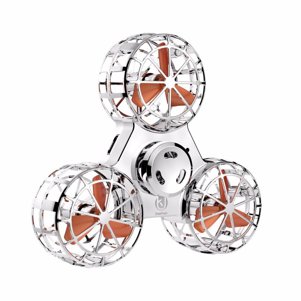 Спиннер BONITOYS Upgrade Metallic летающая игрушка-антистресс Серебряный (SUN0592)