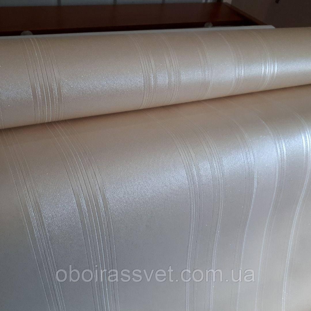 Обои Шелк 9090-01винил горячего тиснения(шелкография) На флизелиновой основе.В рулоне 10 м,ширина 1.06м