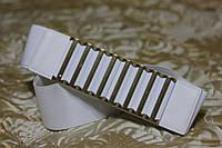 Женский ремень - резинка Т 324 белый