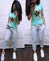 """Модный летний костюм """"Звезда"""", футболка и брюки 7/8 размеры от 42 до 56, фото 3"""