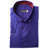 Мужская рубашка приталенная Gelix 1229004 фиолетовая, фото 3