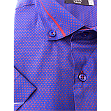 Мужская рубашка приталенная Gelix 1229004 фиолетовая, фото 2