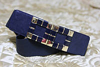 Женский ремень - резинка Т 323 синий