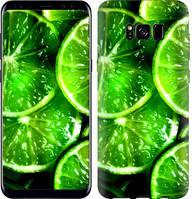 """Чехол на Samsung Galaxy S8 Зелёные дольки лимона """"852c-829-11630"""""""