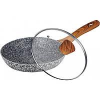 Сковорода з гранітним покриттям і кришкою, 26 см Maxmark MK-FP4526G