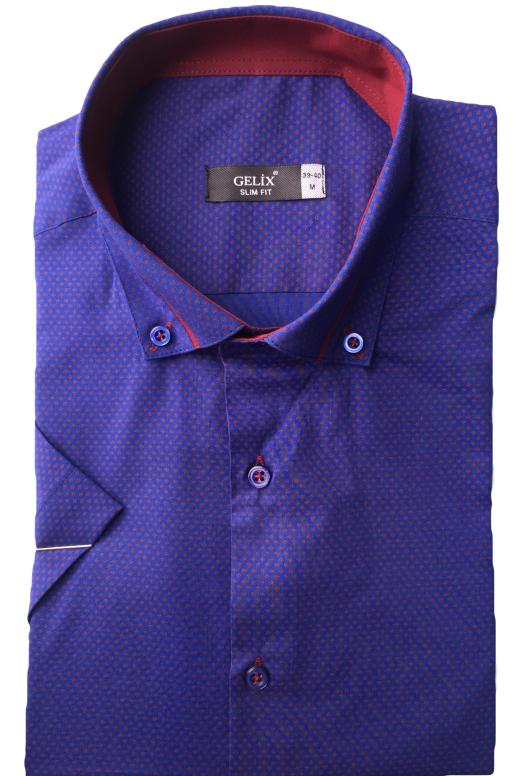 Мужская рубашка приталенная Gelix 1229004 фиолетовая