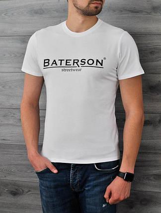 Белая мужская футболка Bat, фото 2