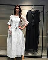 Стильное Льняное Платье Verda ( р.48-56)