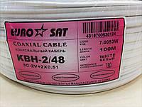 """Кабель для систем видеонаблюдения 3C2V """"EUROSAT"""", комбинированный, медный, (48%),  белый"""