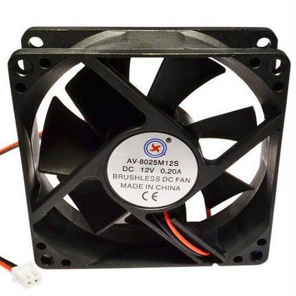 Вентилятор 12V 80х80 мм, фото 2