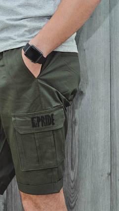 Мужские шорты карго цвет хаки, фото 2