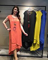 Летнее Платье Verda из льна  ( р.48-56)