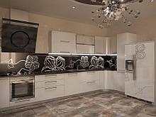 Біла кухня з радіусними елементами