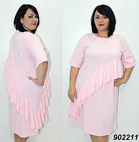 Свободное платье с оборкой 50,52, фото 1