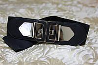 Женский ремень - резинка Т 322 черный