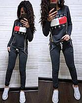 Костюм со змейками по бокам Tommy Jeans, футболка с длинным рукавом и брюки, размеры от 42 до 52, фото 2