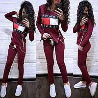 Костюм со змейками по бокам Tommy Jeans, футболка с длинным рукавом и брюки, размеры от 42 до 52