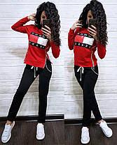 Костюм со змейками по бокам Tommy Jeans, футболка с длинным рукавом и брюки, размеры от 42 до 52, фото 3